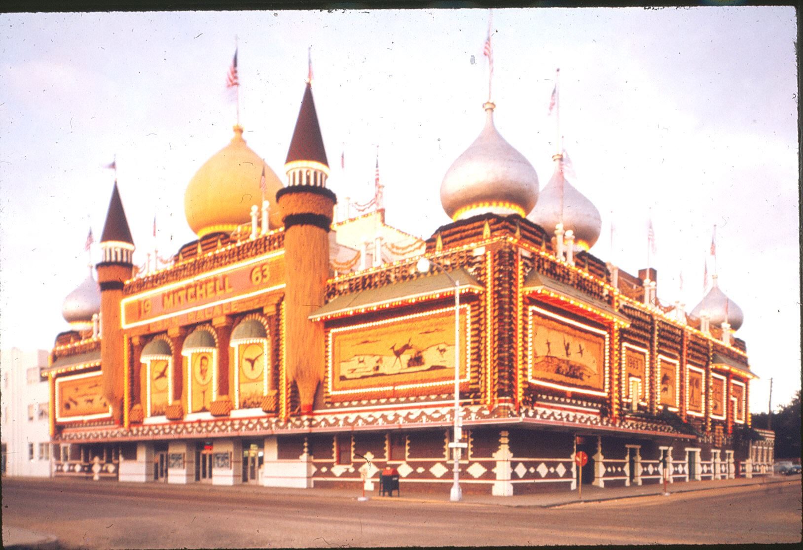 An image of the Corn Palace from 1963.